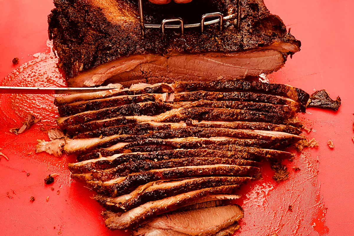 Brisket for an outdoor catered event in Humboldt County